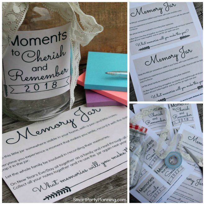 How To Make A Memory Jar With Free Printable Memory Jar Memory Jar Printable Memory Jar Graduation
