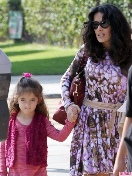 Salma Hayek with her daughter. I think this picture is important because it shows that she still makes time for her family as well, even though she is very busy