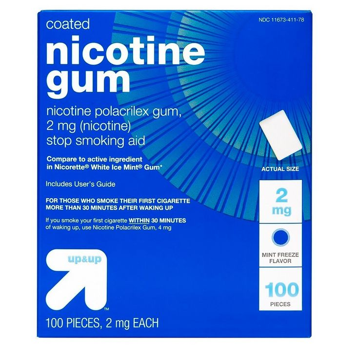 Nicotine Gum & Lozenges Stop Smoking Aid - Mint - (Compare to Nicorette Gum & Lozenges) - up & up, White
