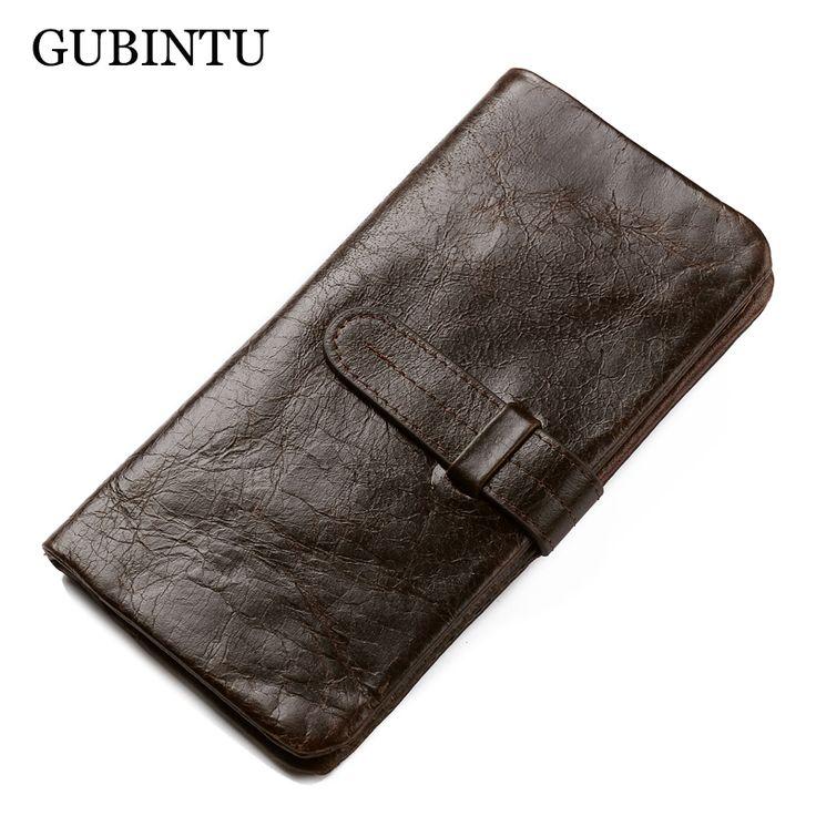 $29.76 (Buy here: https://alitems.com/g/1e8d114494ebda23ff8b16525dc3e8/?i=5&ulp=https%3A%2F%2Fwww.aliexpress.com%2Fitem%2FGUBINTU-Brand-Genuine-Leather-Men-Wallets-Vintage-Design-Card-Holder-Purse-Coin-Pockets-Long-Clutch-carteira%2F32742287995.html ) GUBINTU Brand Genuine Leather Men Wallets Vintage Design Card Holder Purse Coin Pockets Long Clutch carteira masculina for just $29.76