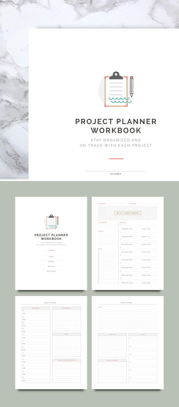 Project Planner Worksheets   Spruce Rd. for Elle & Co