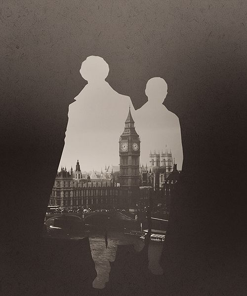 Sherlock. Love it. Sherlock and Watson. <3 Benedict Cumberbatch and Martin Freeman.