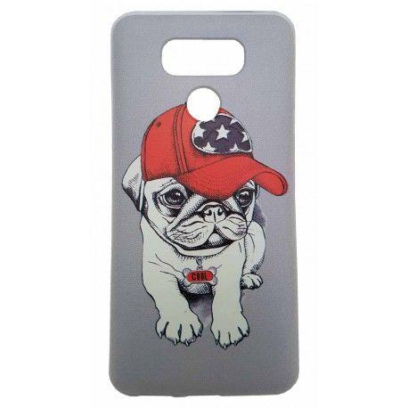 Carcasa Lg G6 Bulldog Francés Con Gorra De America En La Cabeza.