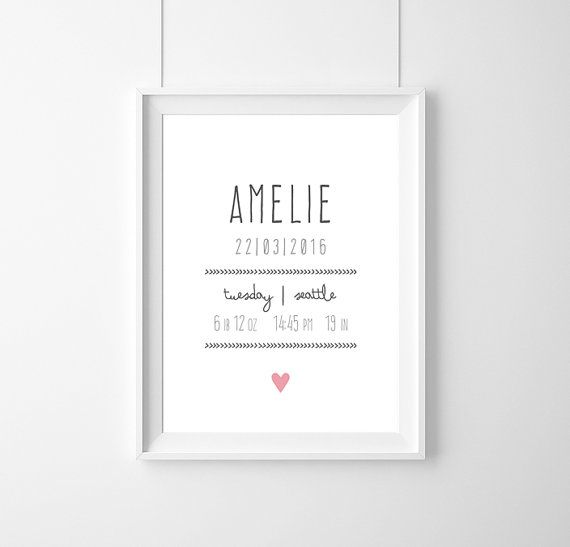 Posterbirth-certificateCustom Baby Birth by WeJustLikePrints