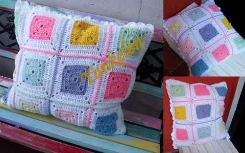 Almohadones; Caminos De Mesa, Cortinas Tejidos Al Crochet