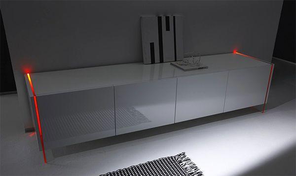 Meuble TV DELTA LED 4 Portes