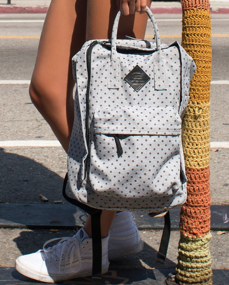 Ready for back-to-school w/ the Icono Square Backpack in Blue Wash Twill.