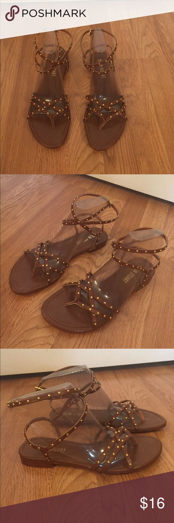 💥💥SALE!! - Colin Stuart Sandals Brown sandals with gold accents and gladiator straps. Comfortable with only a half inch heel. Great condition! Only worn a couple of times. Colin Stuart Shoes Sandals