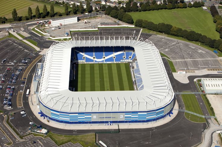 Cardiff City Stadium Aerial View Wallpaper