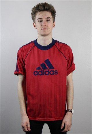 Vintage+Adidas+Logo+T-Shirt+Small