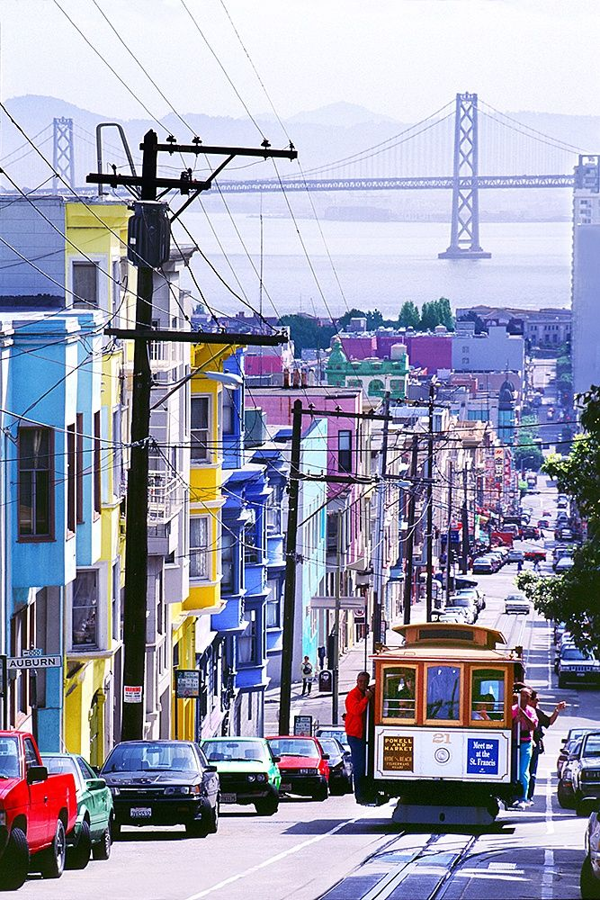 Cable Car On Russian Hill In San Francisco www.mitchellfunk.com