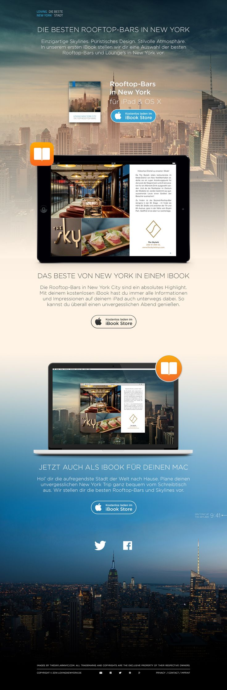 Promotional One Pager - by Steffen Karspeck for melting elements | #ui #webdesign #ibook