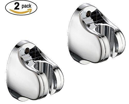 Shower Head Holder, Hand Held Shower Head Bidet Sprayer Holder Mount Bracket (Chrome Polished 2 Pack) for Bathroom by Cagonlife