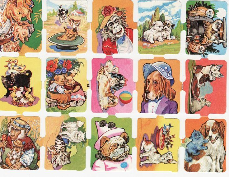 Vintage Die cut Sheet Animals Sima Italy (Image1)