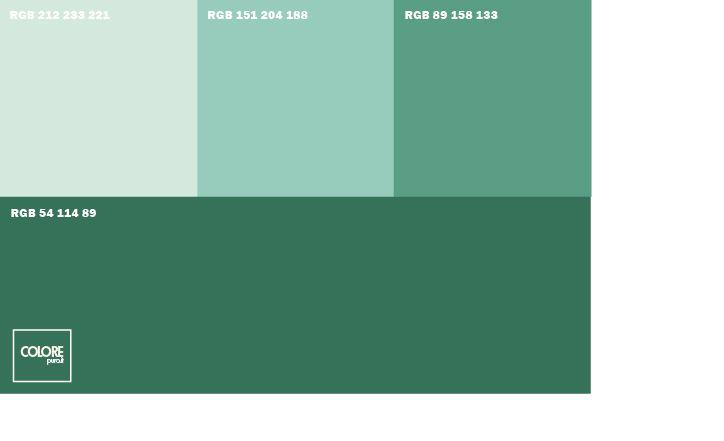 Abbinamento diverse tonalità di verde  Abbinamenti colore ...