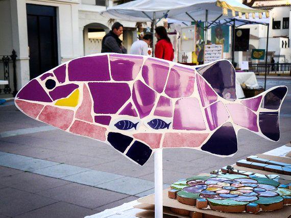MADEINFRIGILIANA Mosaic Fish  Handmade in Axarquía, Andalucia, Spain by MadeinFrigiliana, €24.00