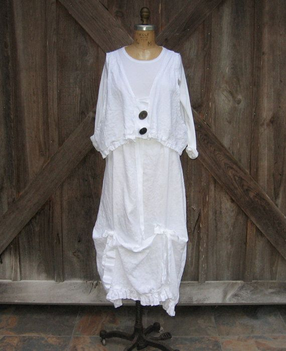 tank top camisole vest washed linen in white with by linenclothing, $79.00