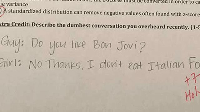 This Teacher's Viral Extra Credit Questions Lure Students Into A Phenomenally Humiliating Prank. | Someecards School
