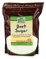 Beet Sugar - 99.9% pure sucrose - Substitute for cane sugar Beet Sugar: Is derived from the refining of sugar beets. It is processed into sucrose. Beware of GM sugar beets. http://www.inspirationgreen.com/all-the-different-sugars.html http://en.wikipedia.org/wiki/Sugar_beet