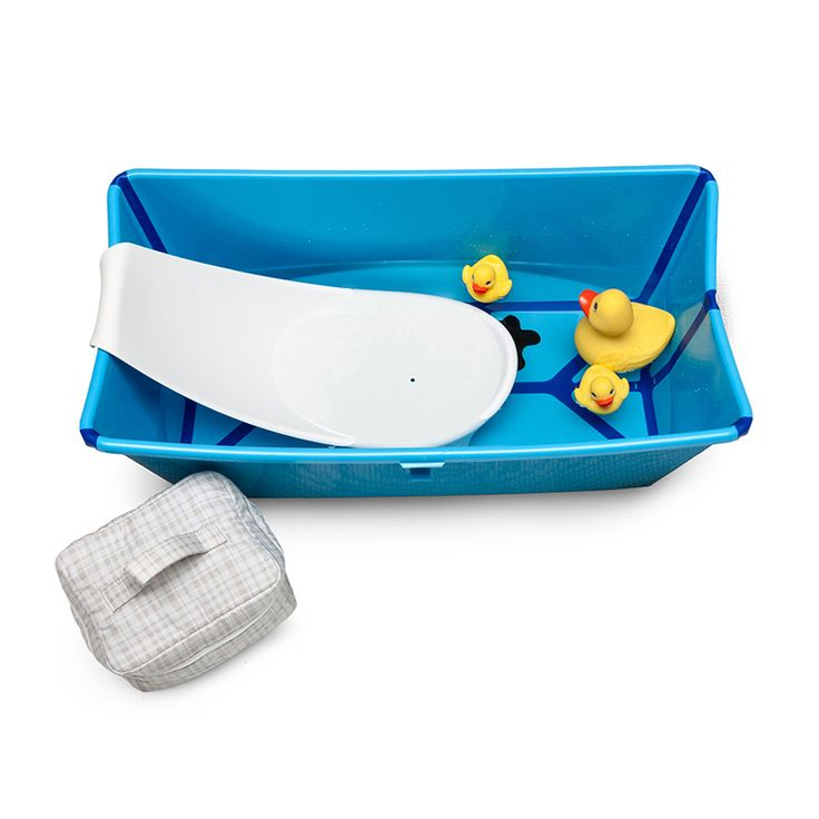 Bañera de bebé plegable transparente con soporte para recién nacido Stokke, Flexi Bath™