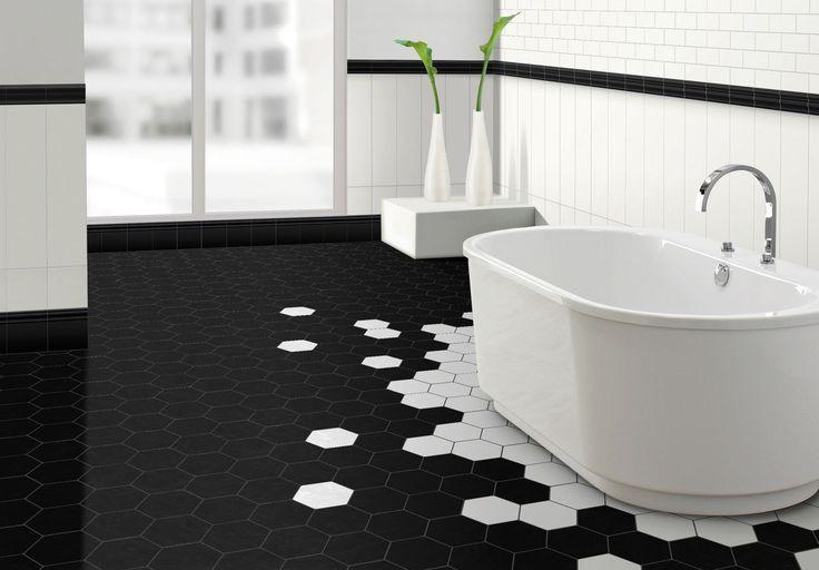 25 best hexagon pattern ideas on pinterest pattern art for Ceramique murale pour salle de bain