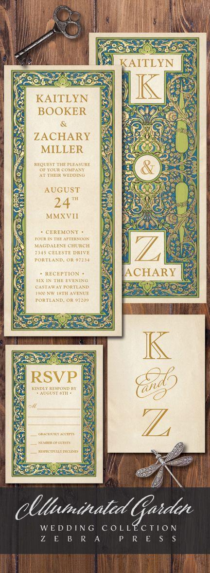 vintage country garden wedding invitations%0A Illuminated Garden Wedding Invitations from Zebra Press  vintage  wedding