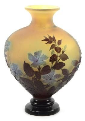 Original Galle Vintage Cameo Glass Vase