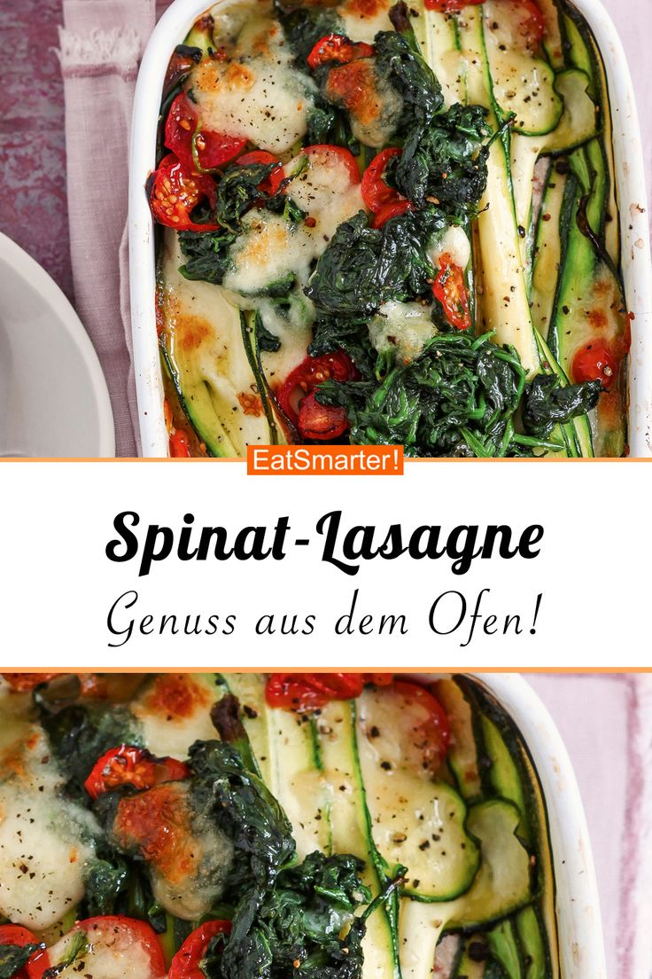 Spinat-Lasagne mit Zucchini und Ricotta