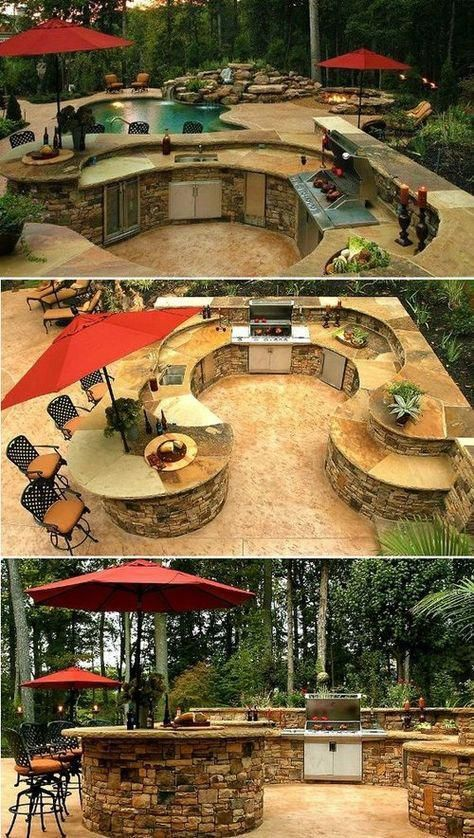 "Get great suggestions on ""outdoor kitchen designs layout patio"". They are actual… – Jannie Ramsey"