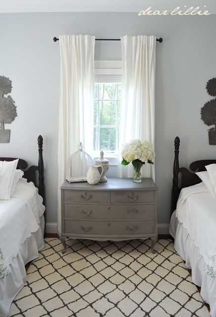 My Parents Guest Bedroom By Dear Lillie BM Pebble Beach Paint Color