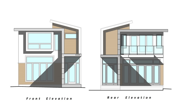 Our next project custom modern home elevation drawings by for Small house design drawing