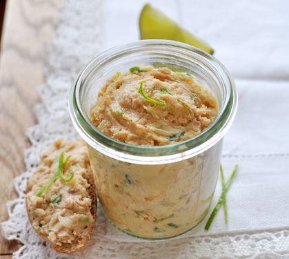 Crémeux de saumon, gingembre et citron vert | Plus de recettes ici : http://www.enviedebienmanger.fr/idees-recettes/recettes-saumon