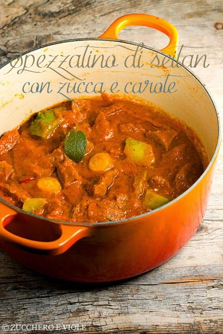 vegan-vegetarian blog sugar and violas: seitan stew with pumpkin and carrot