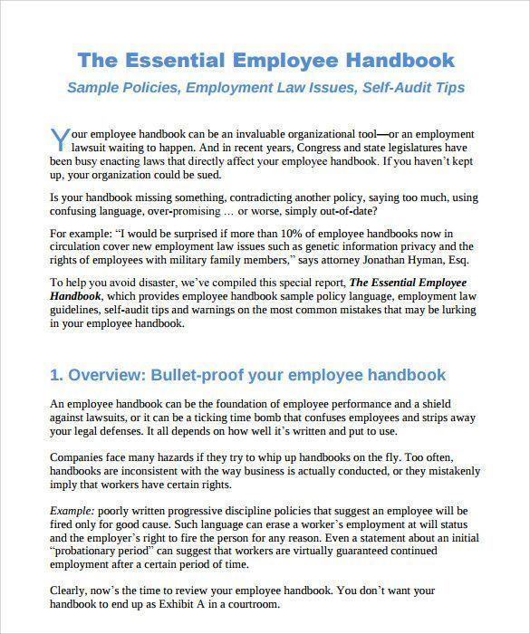 Emphasis within text | employee handbook template, employee.