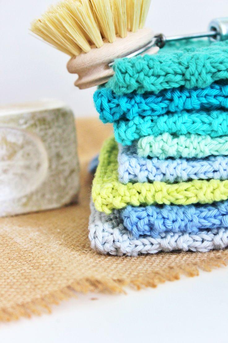 Neu in den Shops WISCHTÜCHER handgestrickt aus Baumwolle in tollen Farben und M…