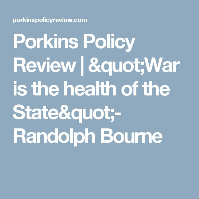 """Porkins Policy Review 