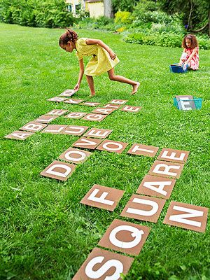 Spell it out, outside! This game puts a super-size spin on an old classic -- and boosts basic literacy skills -- by transforming word-building into an active learning challenge.