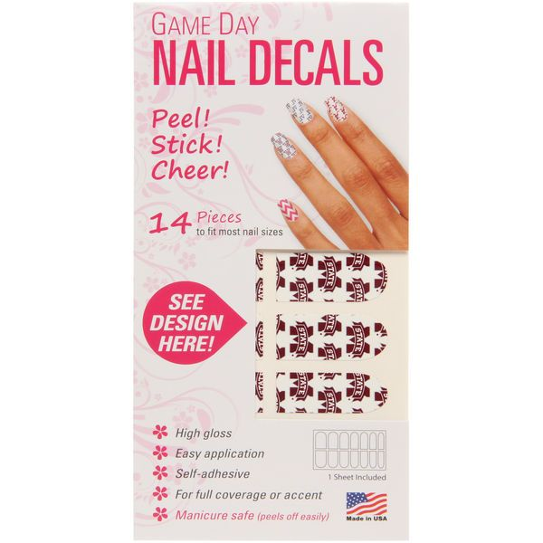 Mississippi State Bulldogs Game Day Nails - $4.99