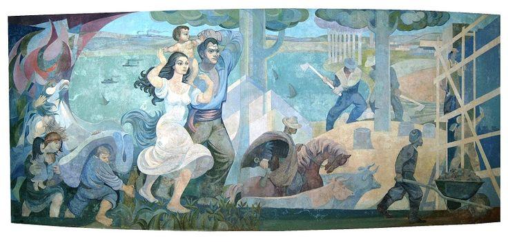 Mural de Pedro Lobos, Parque Saval, Valdivia, Chile.
