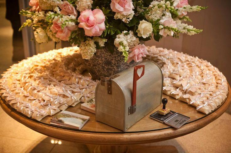 Caixa Postal para mensagens dos convidados - boda Design