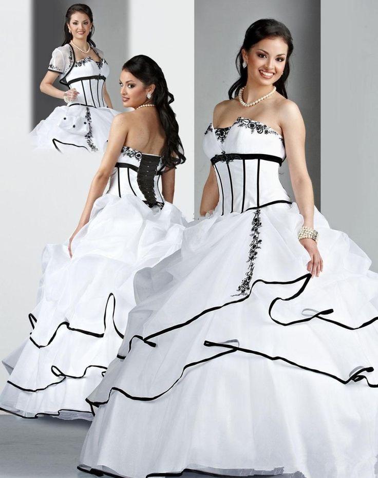 >> Click to Buy << Black and White Quinceanera Dresses 2016 Beaded Masquerade Ball Gowns Sweet 16 Princess Dresses vestido de debutantes e 15 anos #Affiliate