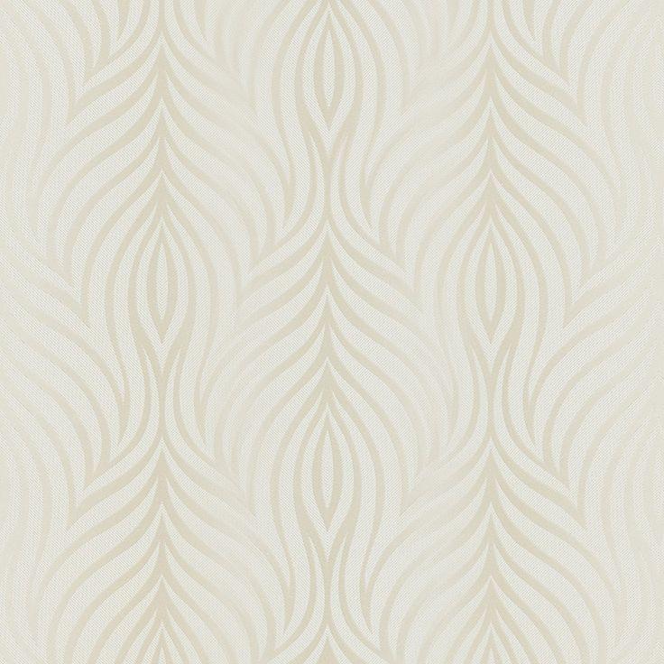 Papier peint madeline 100 intiss motif iris coquille - Papier peint st maclou ...