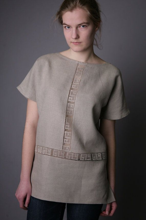 Antique Collection  Linen Sleeveless Tunic by LGlinen on Etsy, $44.00