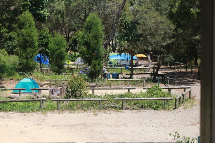 Exploring Moreton - Part II — SUCH IS AUSTRALIA. The Wrecks campground at Tangalooma Wrecks.