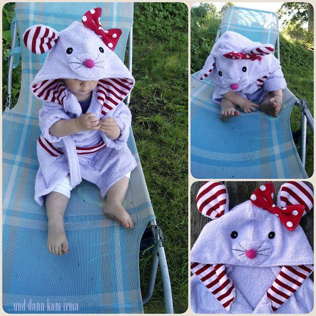 Kinder Bademantel Maus Kapuze, children bathrobe mouse hoodie