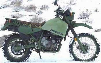 KLR_Diesel. diesel fueled offroad bike