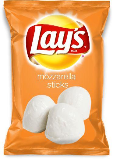 Mozzarella stick flavor lays chips