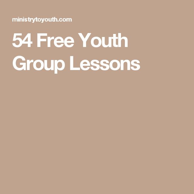 54 Free Youth Group Lessons                                                                                                                                                                                 More