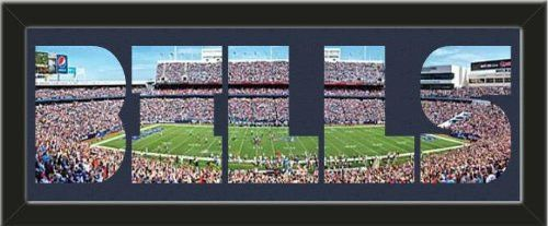 Personalize Your Name With Framed Buffalo Bills Ralph Wilson Stadium Large Panoramic Behind Your Name Or Purchase as -BILLS- Letter Cut Out-Framed Awesome & Beautiful-Must For Any Fan!