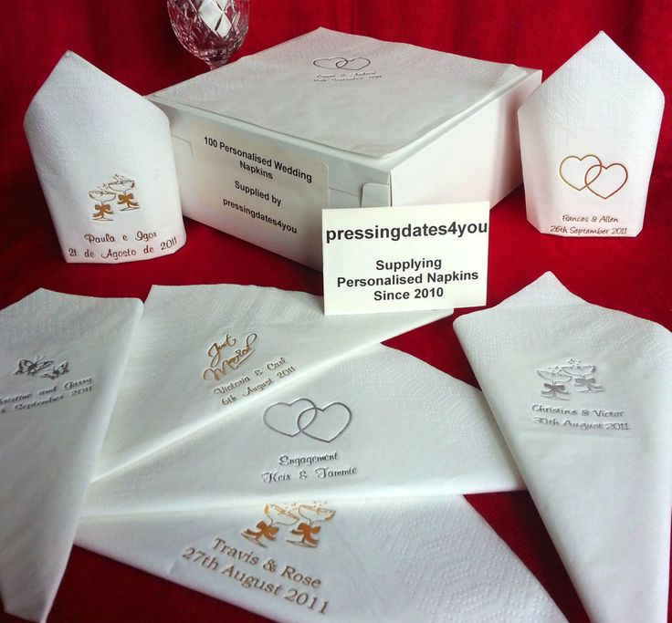 100 Personalised Wedding Napkins